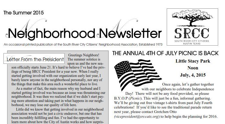 summer newsletter capture