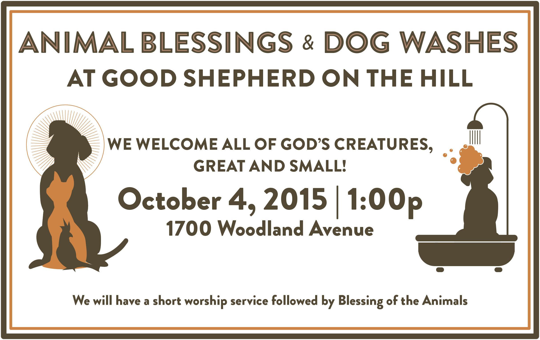 Blessing of the Animals Bulletin Flyer Letter GSH